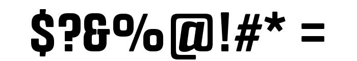 Fragua Bold Font OTHER CHARS