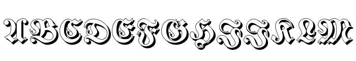 Fraktur Shadowed Font UPPERCASE
