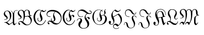 Fraktur Font UPPERCASE