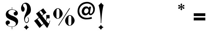 FrakturCondensedHeadline Font OTHER CHARS