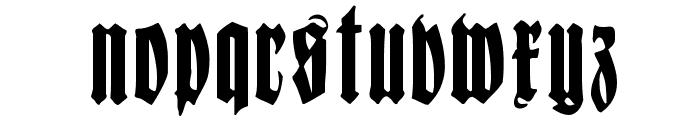 FrakturCondensedHeadline Font LOWERCASE