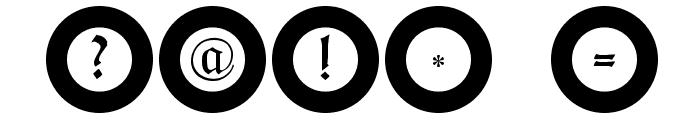 FrakturInRings Font OTHER CHARS