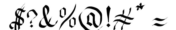 Fraktura Font OTHER CHARS
