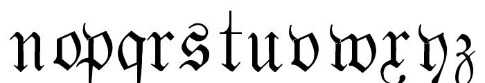 Fraktur Font LOWERCASE