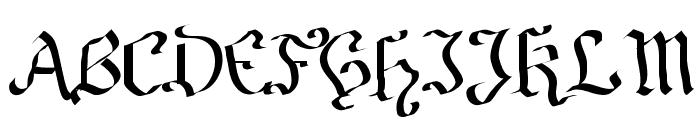 Fraktura Font UPPERCASE