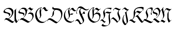 FrakturaFonteria-Slim Font UPPERCASE