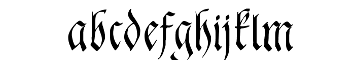 FrakturaFonteria-Slim Font LOWERCASE