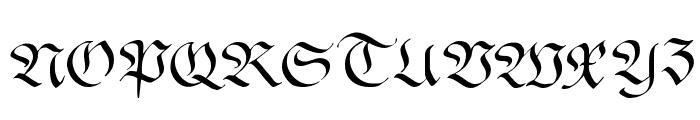 FrakturaFonteria Font UPPERCASE