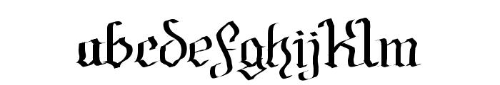 Fraktura Font LOWERCASE