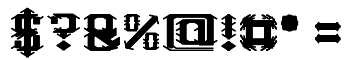 Frame Work-Filled Font OTHER CHARS