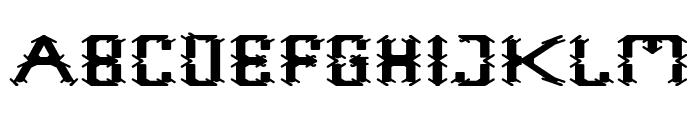 Frame Work-Filled Font UPPERCASE