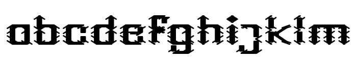 Frame Work-Filled Font LOWERCASE