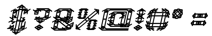 Frame Work Italic Font OTHER CHARS