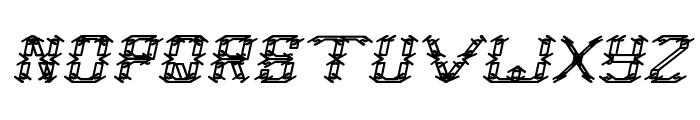 Frame Work Italic Font UPPERCASE