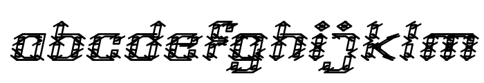 Frame Work Italic Font LOWERCASE
