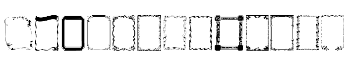 Frames1 Normal Font UPPERCASE