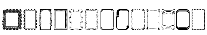 Frames1 Normal Font LOWERCASE