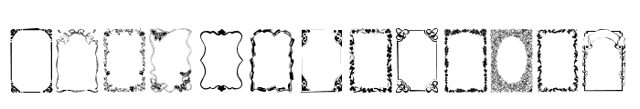 Frames1a Normal Font UPPERCASE