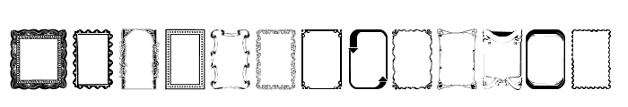 Frames1a Normal Font LOWERCASE