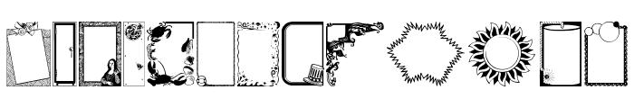 FramesAndBordersIII Font LOWERCASE
