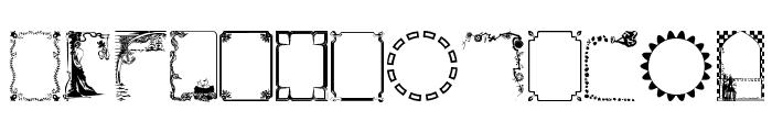 FramesAndBordersII Font LOWERCASE