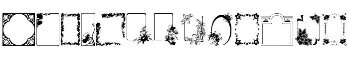 FramesAndBorders Font LOWERCASE