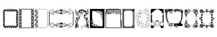 Frames Font LOWERCASE