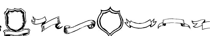 Frames'n Riboons Font UPPERCASE