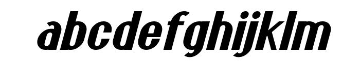 Franck Bold Italic Font LOWERCASE