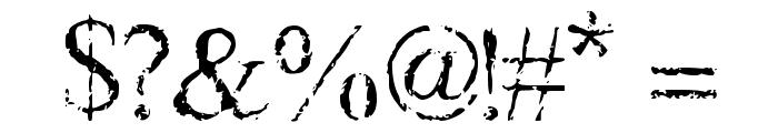 Frank Black Font OTHER CHARS