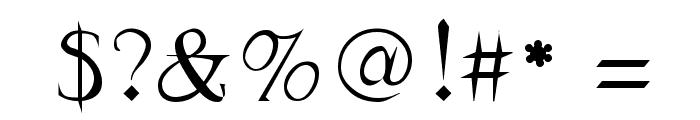 Frank Regular Font OTHER CHARS
