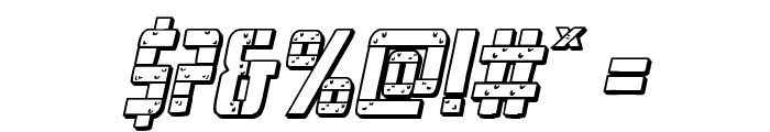 Frank-n-Plank 3D Bold Italic Font OTHER CHARS