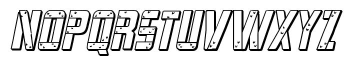 Frank-n-Plank 3D Bold Italic Font UPPERCASE