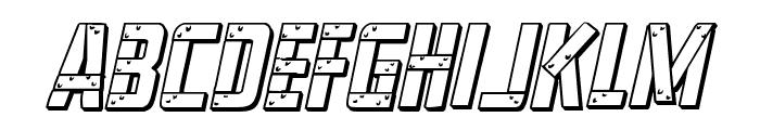 Frank-n-Plank 3D Bold Italic Font LOWERCASE