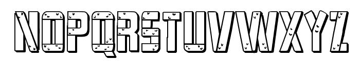 Frank-n-Plank 3D Bold Font LOWERCASE