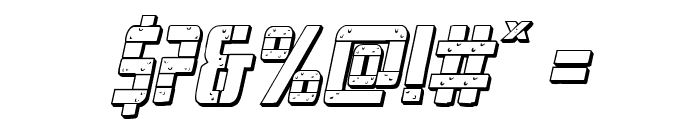Frank-n-Plank 3D Italic Font OTHER CHARS