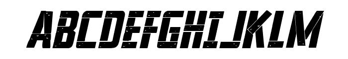 Frank-n-Plank Bold Italic Font UPPERCASE