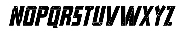 Frank-n-Plank Bold Italic Font LOWERCASE