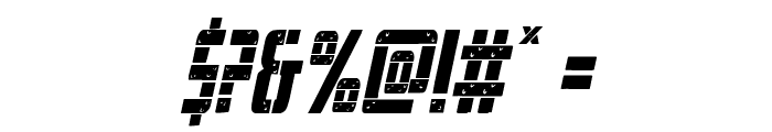 Frank-n-Plank Condensed Italic Font OTHER CHARS
