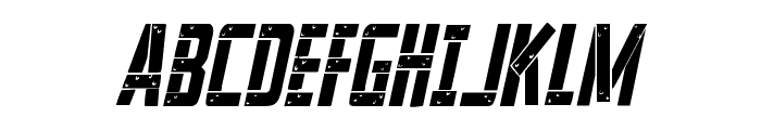 Frank-n-Plank Condensed Italic Font UPPERCASE