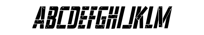 Frank-n-Plank Condensed Italic Font LOWERCASE