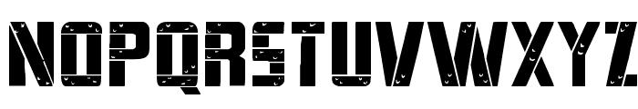 Frank-n-Plank Expanded Font UPPERCASE