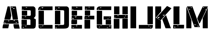 Frank-n-Plank Expanded Font LOWERCASE