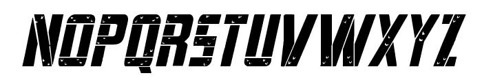 Frank-n-Plank Italic Font UPPERCASE