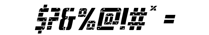 Frank-n-Plank Light Italic Font OTHER CHARS