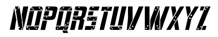 Frank-n-Plank Light Italic Font UPPERCASE