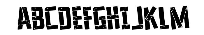 Frank-n-Plank Rotated Font UPPERCASE