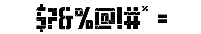 Frank-n-Plank Staggered Font OTHER CHARS