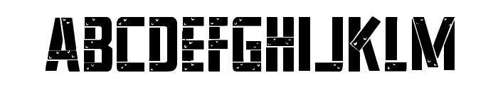 Frank-n-Plank Staggered Font LOWERCASE