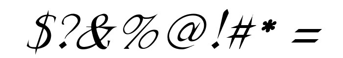 FrankTimes Italic Font OTHER CHARS